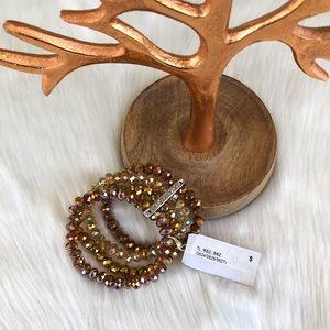 NWT Anthropology Brown Gold Multilayered Bracelet